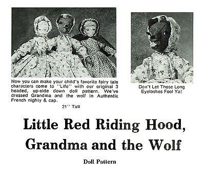 Little Red Riding Hood Grandma Wolf ~Topsy Turvy Doll Pattern