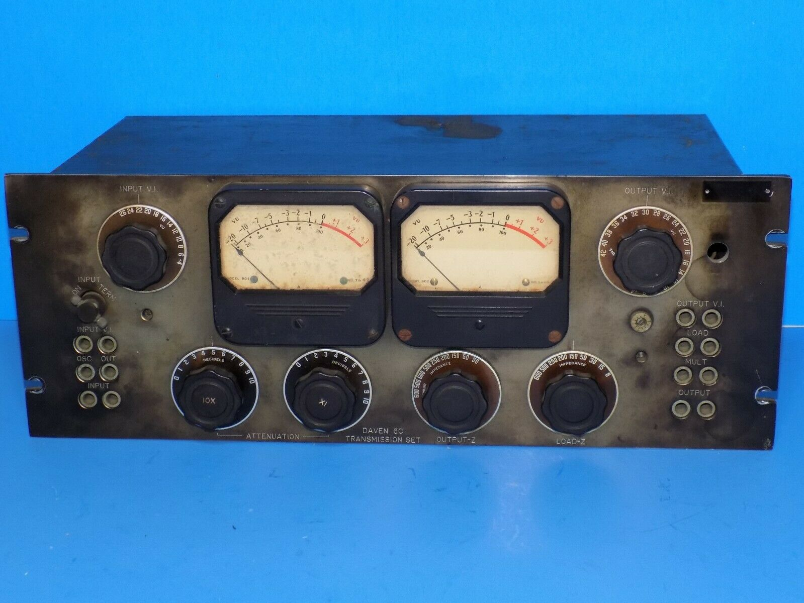 DAVEN WESTERN ELECTRIC LANGEVIN 6C TRANSMISSION  ATTENUATOR MEASURING PANEL