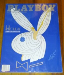 Vintage Playboy January 1987 Holiday Anniversary Issue