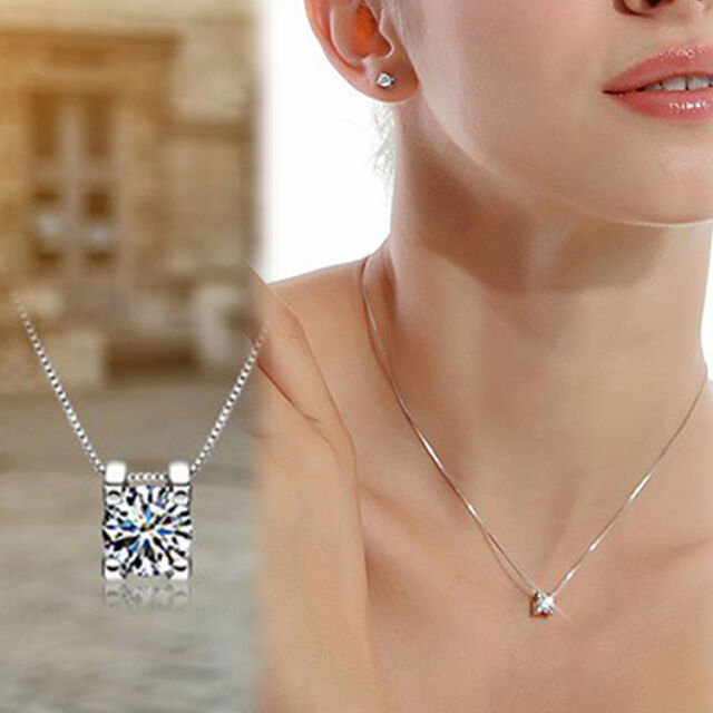 The Only!Silver platedSymbol Love Clavicle Pendant Necklace Valentine's Day Gift