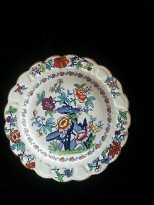 Antique-BOOTHS-Pompadour-Silicon-China-Dinner-Plate-1920s-Hand-Painted-Floral