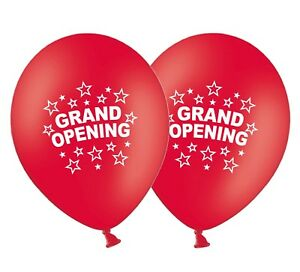 Grand-Opening-12-034-Printed-Latex-Red-Balloons-New-Shop-Store-Business-Pack-of-10