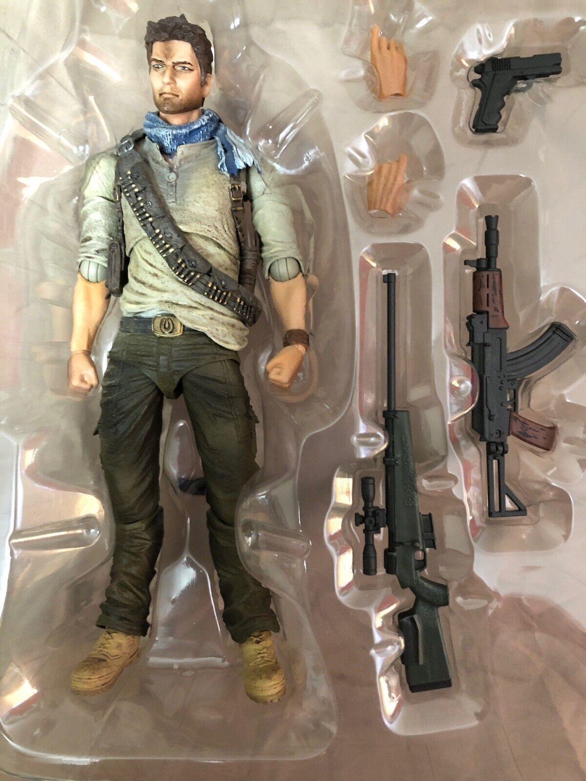 Uncharted3 Play Arts Kai Nathan Drake Pvc Painted Action Figure