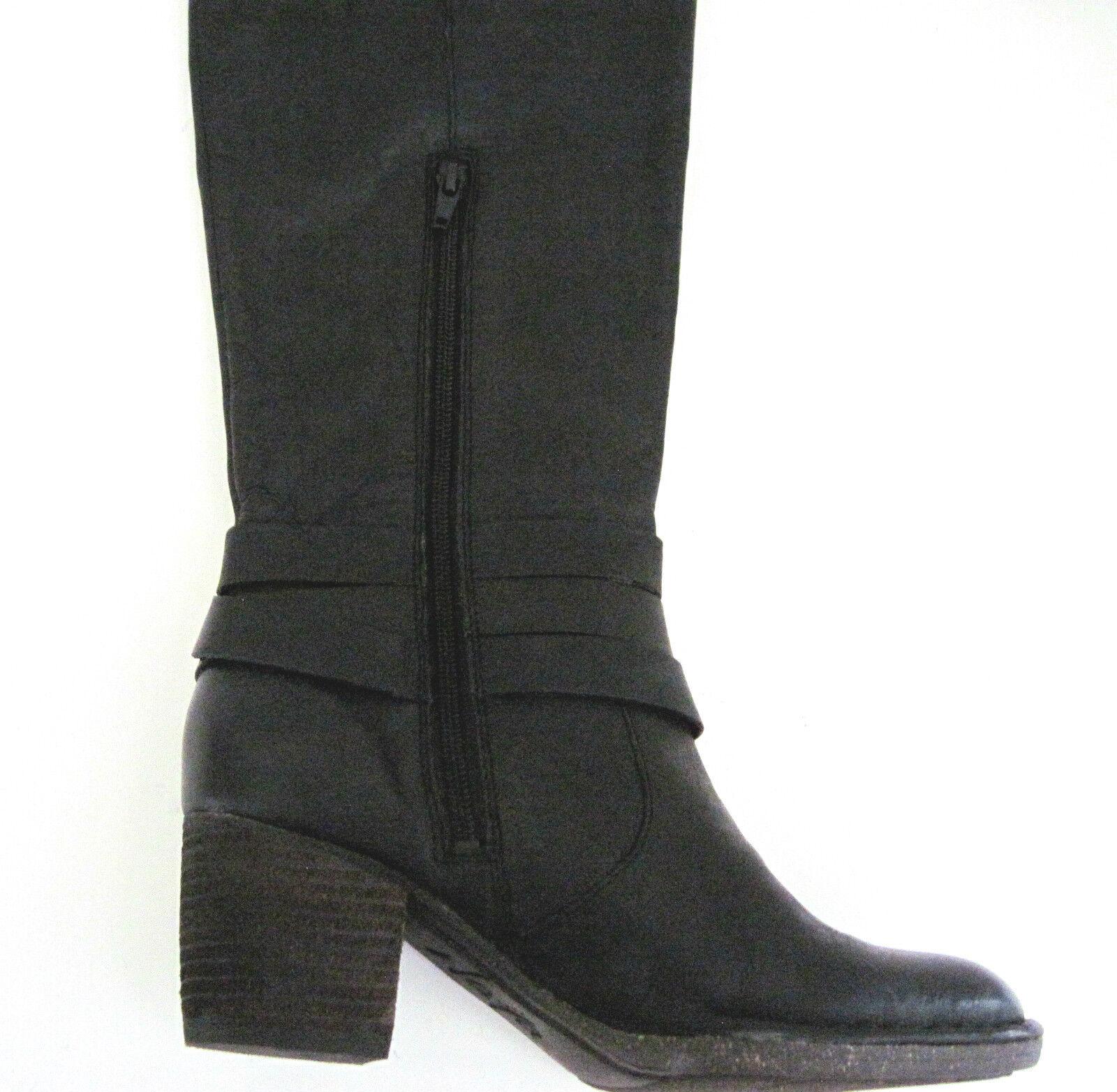 botas De Cuero Negro Negro Negro Naya Gacela diseñador de hardware para mujer Talla 7 1 2 M, Nuevo 055c6f