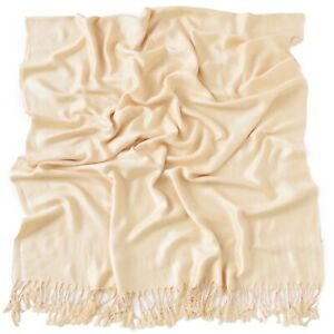 Nude Solid Colour Design Shawl Scarf Wrap Stole Throw
