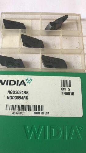 WIDIA NGD3094RK TN6010 W=2.39mm//.094in same Kennametal NGD3094RK KC5010 5pcs