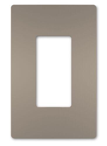 PASS /& SEYMOUR Nickel SCREW LESS 1 GANG PLASTIC WALL PLATE screwless