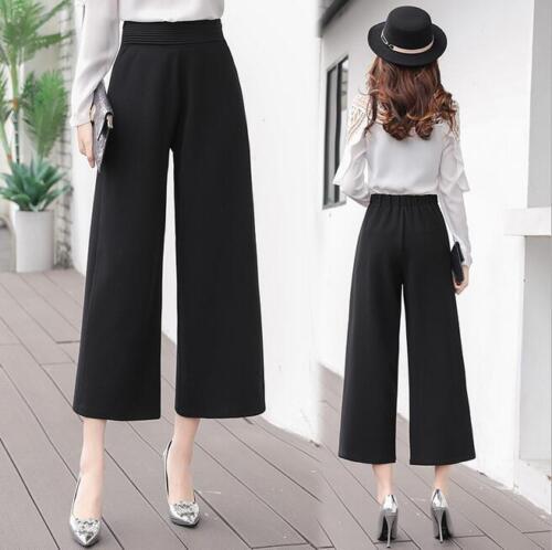 Women Casual High Waist Wide Leg Summer Wide Leg Pants Breathable Formal New