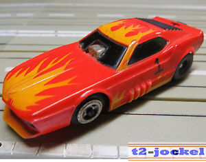 For-H0-Slotcar-Racing-Model-Railway-Funny-Mustang-with-Tyco-Chassis