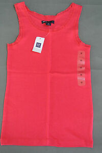 GAP-KIDS-Girls-SOLID-w-LACE-EDGING-Tank-Top-Size-M-8-NWT-14-95