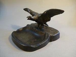 Antike Originale Vor 1945 Diplomatisch Ascher Aschenbecher Metall Bronziert Adler Um 1900 StraßEnpreis Sonstige Zierobjekte