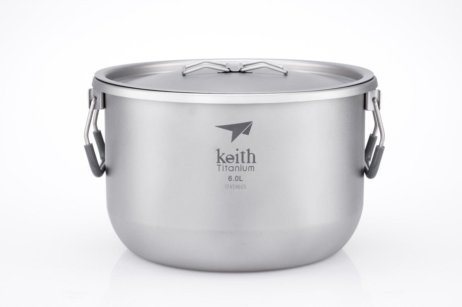 Keith Titanium Ti8301 Pot - 6.0 L (expédiés de Keith Titanium Warehouse in USA)