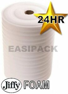 2 Rolls of 750mm (W)x 75M (L)x 4mm JIFFY FOAM WRAP Underlay Carpet Packaging 5056055601919