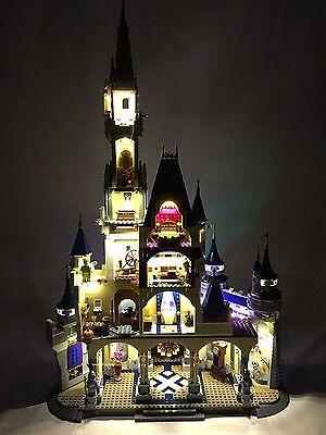 Remote LED Light Lighting Outlets Kit For LEGO 71040 For Disney Castle