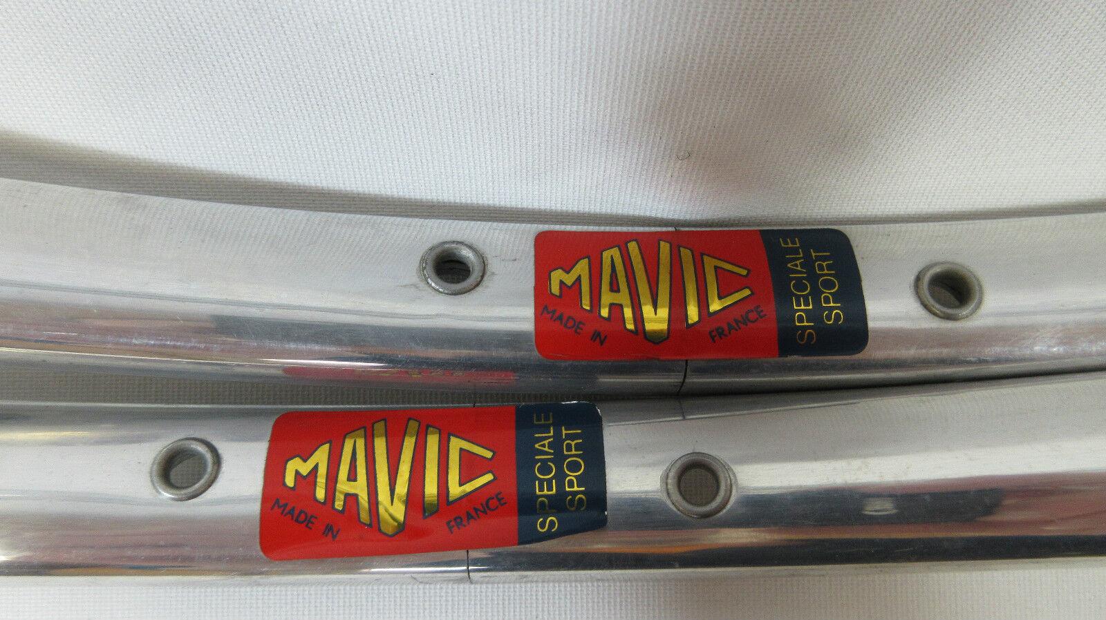 VINTAGE MAVIC Speciale Sport Road Bike TUBOLARI RIM COPPIA, 32H, 700c, nn.