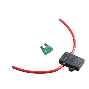 12 gauge atc fuse holder box in line awg wire copper 12v 30a blade rh ebay com Electrical Fuse Box Ford Fuse Box