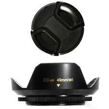 49mm Lens Hood Flower Crown Wide Petal Shape and Lens Cap for Fujifilm Fuji X100
