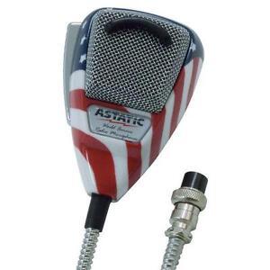 Details about ASTATIC 636L AMERICAN FLAG STARS n STRIPES CB Ham Radio  Microphone 4 Pin mic