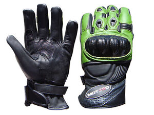 Motorbike Knuckle Protection Motorcycle Professional Long Leather Gloves