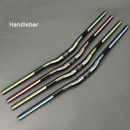 31.8*600-760mm Carbon fiber MTB Road Bike Riser Bar Ultralight Handlebar Plugs