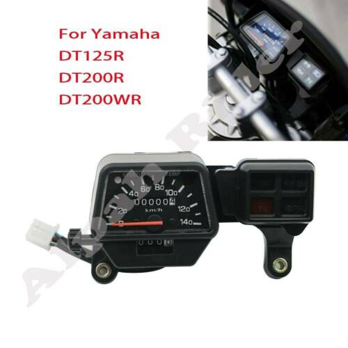 Yamaha FJR 1300 2003-2005 KM//H Aftermarket Instrument Cluster White Gauge Faces