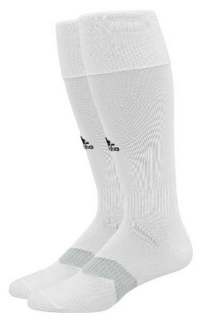 c46bc1b91abd adidas Metro IV Soccer Socks White black clear Grey Medium Small for ...