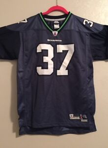 big sale a8621 0bdab Details about EUC Youth NFL Seattle Seahawks Jersey #37 Alexander Size  XL(18-20) Short Sleeve