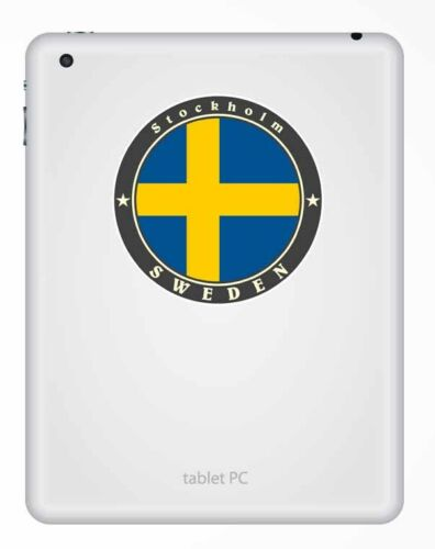 2 x 10cm Stockholm Sweden Vinyl Sticker Decal Luggage Travel Tag Flag Gift #9502