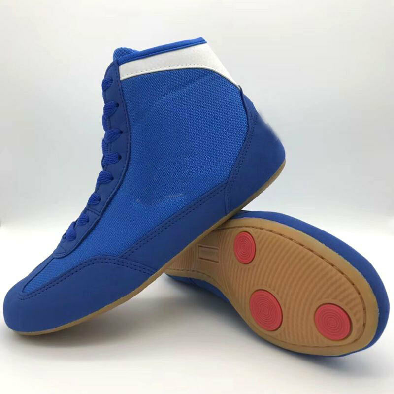 be884152734a Boxing MMA Wrestling Wrestling Wrestling Shoes Trainers High Top Athletic  Boots Martial Arts Unisex b0c4e2