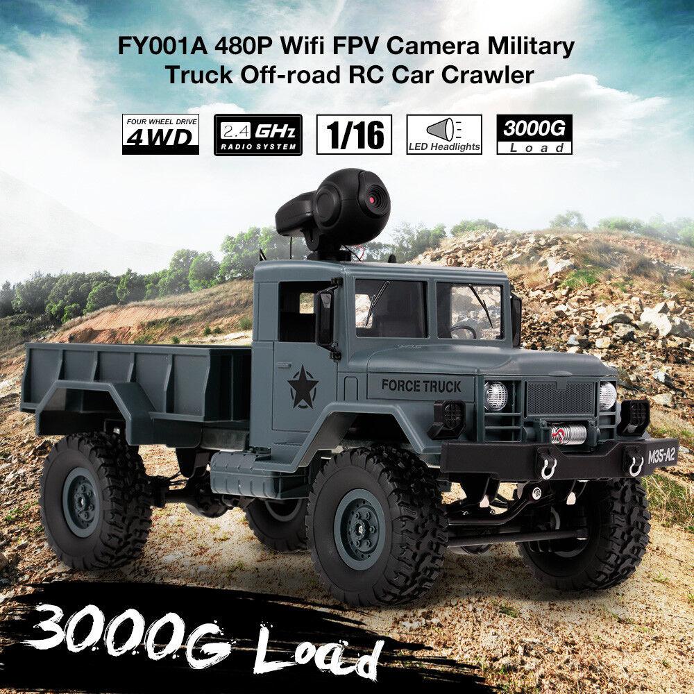 Fayee fy001a 1   16 2.4ghz 4wd 480p wifi fpv - kamera 3000g laden led - scheinwerfer n7e4