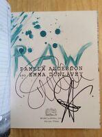 Raw - Signed By Pamela Anderson & Emma Dunlavey Hc Book + Pics Unread