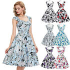 Housewife Petticoat Retro Vintage 50'S 60S Rock And Roll Party Swing Pinup Dress