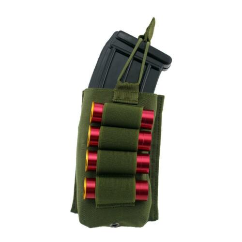 Tactical  Mag Pouch with 4 Rounds 12G Shotshell Elastic Holder