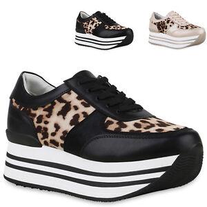 Leo Details Trendy Zu Damen Schnürer Sneaker Print 825823 Neu Turnschuhe Plateauschuhe trhdxBsQC