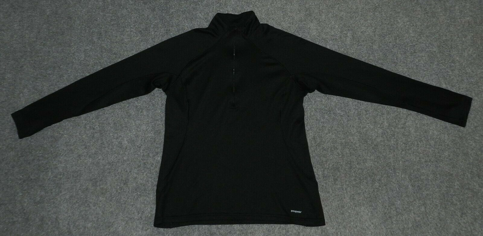 PATAGONIA W'S CAPILENE 3 MIDWEIGHT 1/4 ZIP PULLOVER 44451 Black sz L Pullover