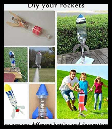 Model Bottle Stomp Water Rocket Launcher Outdoor Toys Baking Soda DIY Science Ex