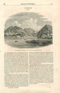 Lac-de-Tegernsee-en-Baviere-Allemagne-par-Julius-Greth-GRAVURE-OLD-PRINT-1860