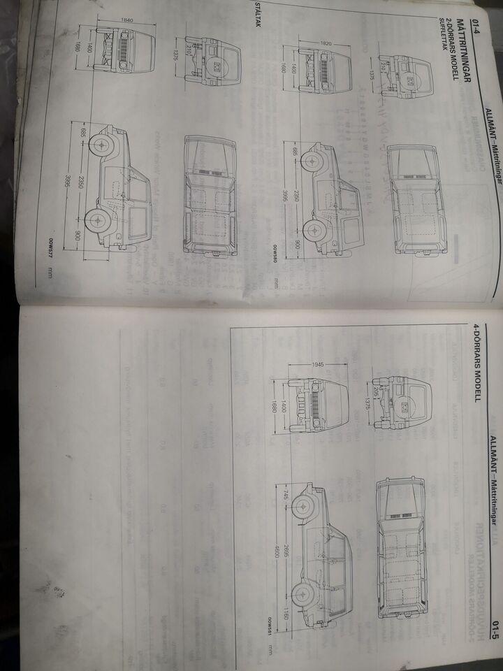 (69)Værkstedsbog, Mitsubishi Pajero