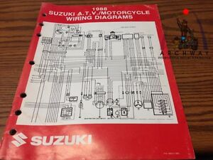 Admirable 1988 Suzuki Atv Motorcycle Wiring Diagrams Manual P N 99923 13881 Wiring Digital Resources Ommitdefiancerspsorg