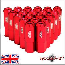 BLOX FORGED ALLOY WHEEL NUTS 60MM M12x1.25 fits SUBARU NISSAN SUZUKI PEUGEOT RED