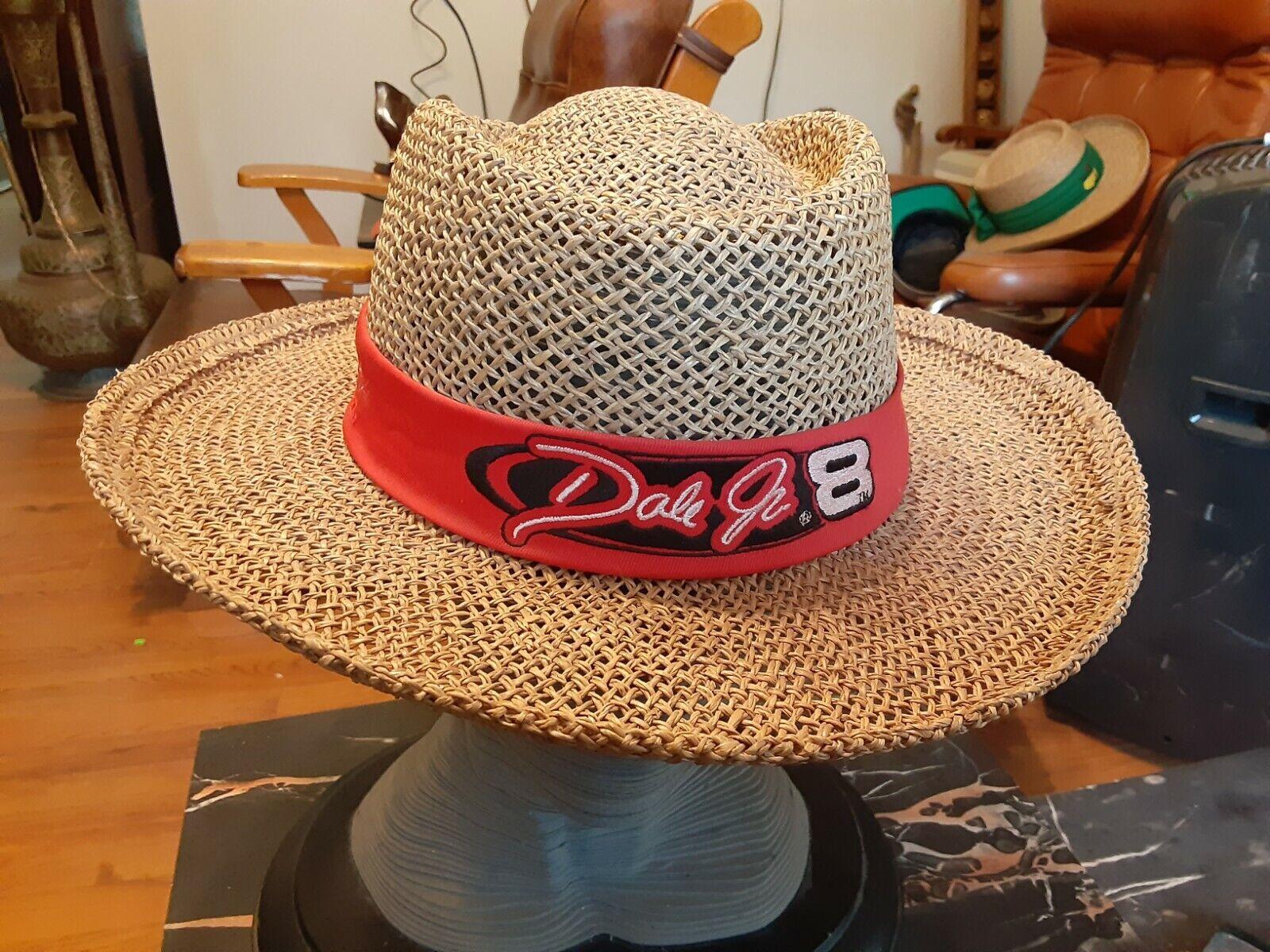 NICE Dale Earnhardt Jr #8 100% Straw Wide Brim Su… - image 1
