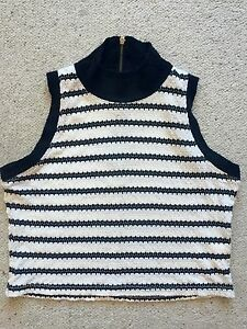 Stripped-Crop-Top-Med-Size-New-Was-49-95