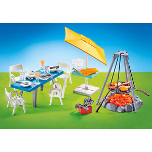 Playmobil-Barbecue-With-Seating-Area-Building-Set-9818-NEW-IN-STOCK