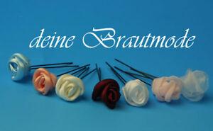 Audacieux Épingles à Cheveux Rose Roses Bijoux De Cheveux Coiffe Communion Mariage Neuf-afficher Le Titre D'origine
