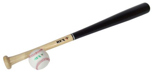 Baseball Set Hartholz Baseballschläger mit Ball TOP NEU