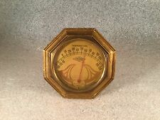 1930 ART DECO E.W & Co VIKING PRODUCT CAR DASHBOARD GAUGE THERMOMETER AUTO