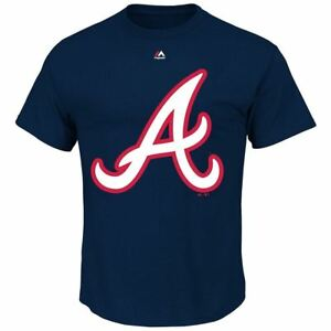 on sale 913e9 5f52b Image is loading Atlanta-Braves-T-Shirt-Men-039-s-Official-