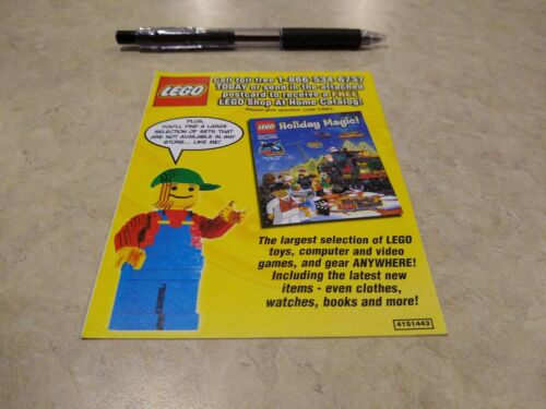 Lego Holiday Shop at Home catalog US Canada brochure flier postcard 3 available