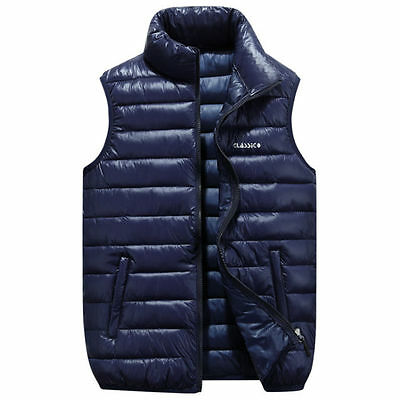 2016 New  L-4XL Winter Mens fashion down vest casual jacket coat waistcoa