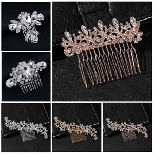Jewelry-Bride-Barrette-Hair-Comb-Clip-Bridal-Headpiece-Crystal-Rhinestone-Comb